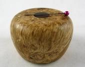 Wooden Magnetic Needle Keeper  - Black Maple Burl and Katalox Wood, Handmade by Greg Hanson