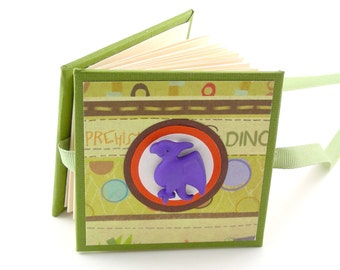 Dinosaur Adventure II Mini Photo Book, 2x3 wallets - orange, green, purple