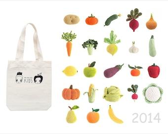 BIG set of Crochet Vegetables and Fruits (23 pcs!)