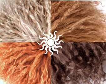 Doll Mohair Locks Real Hair Tibetan lamb 4 Natural Colors