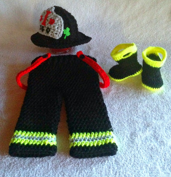 Firefighter baby clothes fireman bunker gear by