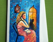Fantasy 2 - Hand Painted Fantasy Greeting Card