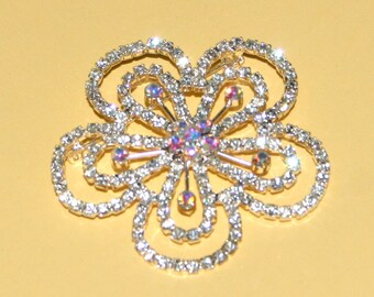 Crystal Avenue Brooch from Swarovski - Flower Middle Embellishment