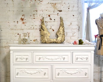 Painted Cottage Chic Shabby Romantic French Dresser LGDR11