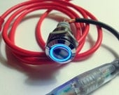 USB Button - LED Ring button - Blue - for DIY Photobooth or gaming or anything you can think of