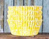 Yellow Damask Cupcake Liners, Yellow Damask Cupcake Wrappers, Yellow Cupcake Cases, Stay Bright Greaseproof Cupcake Liners, Baking Cups (50)