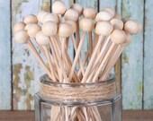 Rock Candy Sticks, Wooden Cake Pop Sticks, Wooden Lollipop Sticks, Marshmallow Pop Sticks, Wooden Lolly Sticks, Wedding Cake Pop Sticks