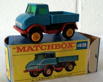 Vintage Matchbox Unimog #49