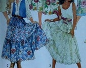 Tiered Skirt Sewing Pattern UNCUT Simplicity 9737 Sizes 16-24