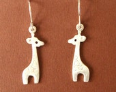 Giraffe Dangle Earrings Sterling Silver Kids Jewelry Girls Earrings Women Animal Drop earring Jewelry  Cute Kawaii Earring