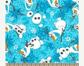 Fun Olaf Flannel. Fabric--from Movie FROZEN--Hard Find---So Cute-- 40-70% off Patterns n Books SALE-- Jan Select Frozen Fab SALE