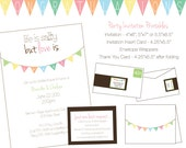 Love is Sweet - Wedding Shower DIY Printable Invitation, Recipe Card, Cupcake Toppers and More