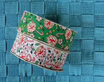Vintage Set of Two Unused Rolls of Strawberry Shortcake Christmas Ribbon