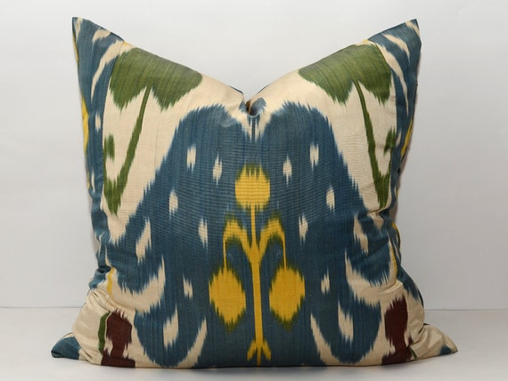 20x20 Ikat Pillow Cover Home Decor Auhentic Ikat Fabric