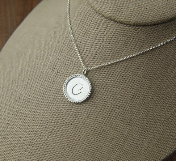 custom letter pendant necklace in sterling by jersey608jewelry