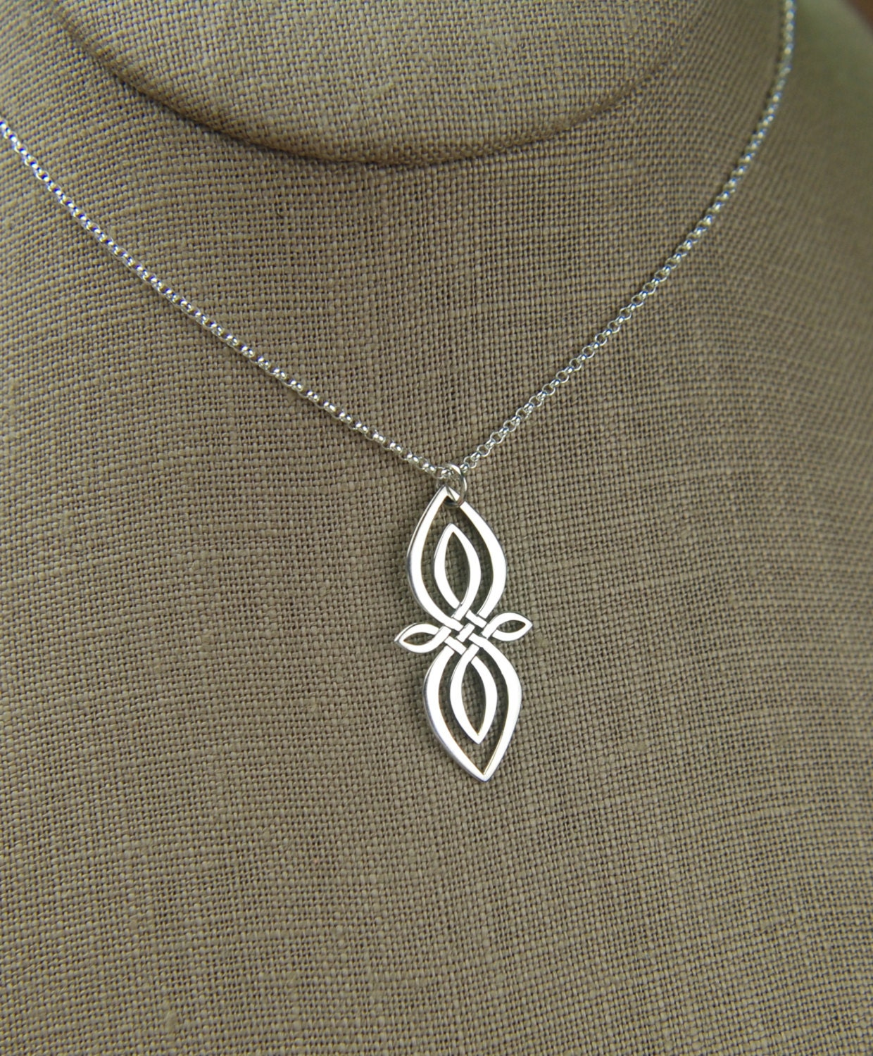 celtic knot infinity pendant necklace in sterling silver