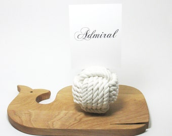 Nautical Wedding Rope Table Number Knots 5 Across No Roll Style Pack of 10