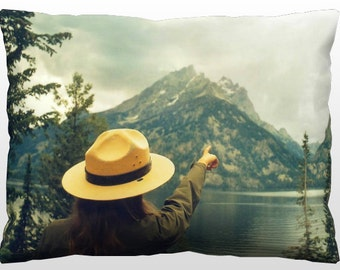 Decorative Landscape Pillow - Lakeside Ranger
