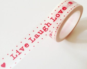 Live Laugh Love Washi Tape Red Wedding Party Gift Wrapping