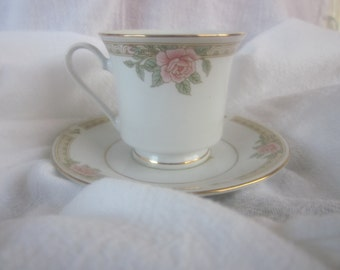 DEMITASSE CANDLE Floral Fine Bisque China