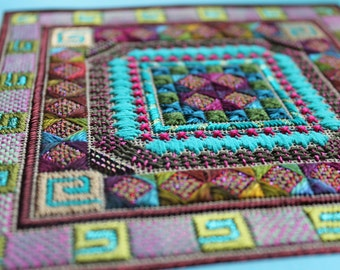 Needlepoint Instruction, Embroidery PDF, Needle Art PDF, Diy Embroidery, Thread Pattern, Needle Art Download, Thread Design PDF