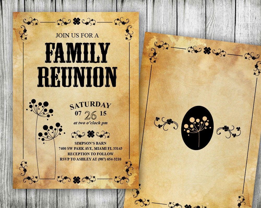 It is a picture of Dramatic Free Printable Family Reunion Invitations