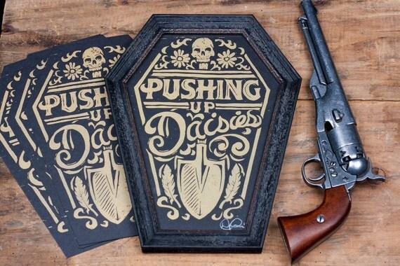 Pushing Up Daisies - Block Print