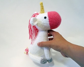 MADE to ORDER - Amigurumi Unicorn - cute crochet unicorn plush, crochet animal plush, magical unicorn softie, pony doll, children's toy