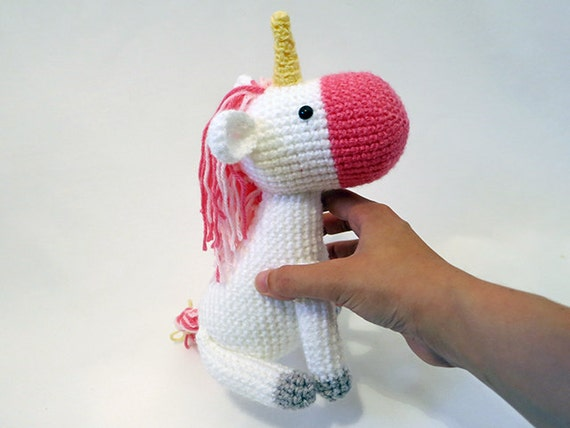 Crochet Unicorn Doll : MADE to ORDER Amigurumi Unicorn cute crochet unicorn