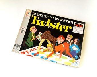 Milton Bradley's Twister 1966 Complete / The Game That Ties You Up in Knots / Vintage Family Game