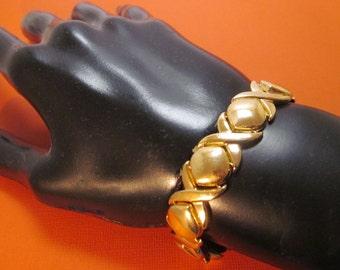 14K Gold Bracelet Links Bold Gift