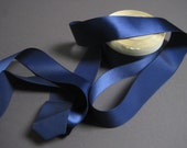 Vintage 30s Navy ribbon rayon 1.5 inch wide