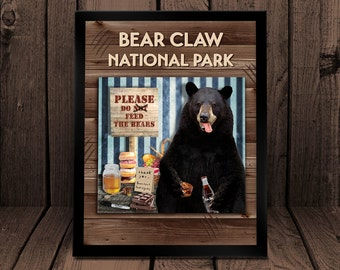 Bear Claw National Park - Please Do Not Feed the Bears - Art Print