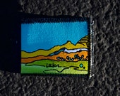 Hand Painted Recycled Wallet no.48: Southern Utah