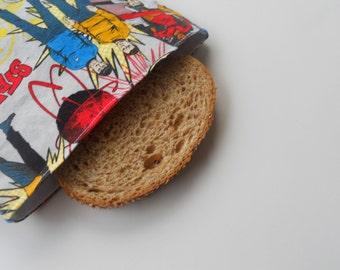 Classic Star Trek Reusable Sandwich Bag/Captain Kirk Reusable Sandwich Bag