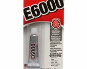 E6000 Industrial Strength Adhesive - Fabric / Metal Glue for Purse or Wallet Hardware