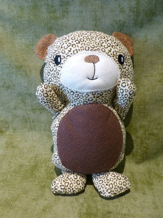 "Stuffed animal 11"" Bear brown and tan Baby"