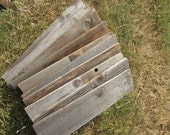 Reclaimed Fence Wood With - 10 Boards - 21 Inch Length - Good Condition - Great For Rustic Crafting!