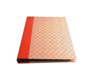 "large baby photo album orange stamp-flowers, 8x6"" photo book"