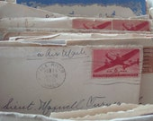 Vintage WWII letters from home / 160 letters in the collection. New lower price! Newspaper clippings, cards letters