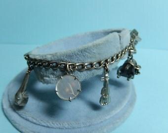 Sterling Silver Charm Bracelet Musical Charm Bracelet