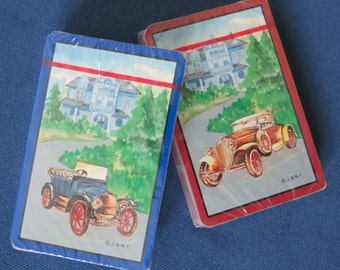 Vintage Playing Cards with Rolls Royce Two Decks in Original Cellophane
