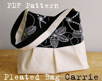 Pleated Bag Pattern Pleated Purse Pattern PDF Sewing Pattern Ebook Sewing Tutorial DIGITAL File CARRIE