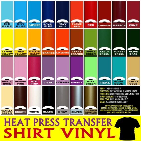 5 Rolls 12 Heat Press Thermal Transfer Vinyl T By Vinylvillage
