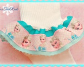 Disney's FROZEN Ruffle Socks featuring Elsa - You Choose The Solid Ribbon Color - perfect for Disney vacations, birthday outfits, cruise
