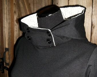 Hooded Sweatshirt Dress, Handmade Dress, Sweatshirt Dress, Eco Friendly