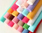 Polka Dot Felt - You Choose 5 9x12 inch sheets
