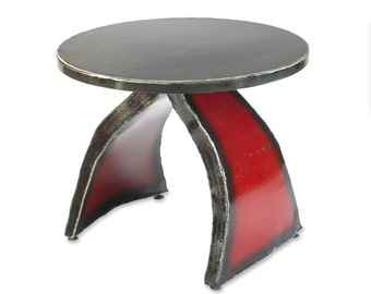 Wishbone Side Table Metal Modern End Table