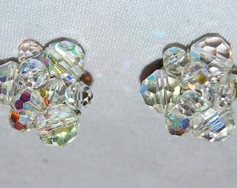 Vintage / Crystal / Earrings / Clip On
