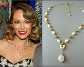 Red Carpet Pearl Statement Necklace - Worn by Actress Stephanie Drapeau